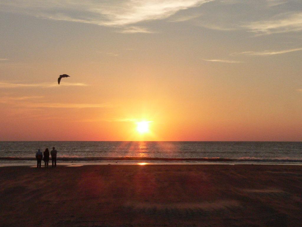 Sonnenuntergang auf der Insel Römö